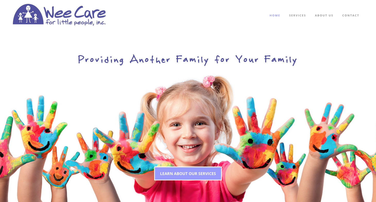 Wee Care for Little People Website Design